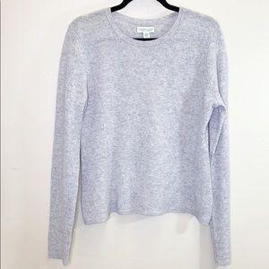 Adrienne Vittadini 100% cashmere grey sweater XL